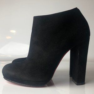 Christian Louboutin Black Suede Booties 36.5